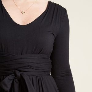 Modcloth Dresses - Modcloth Jersey Knit Dress with Wrapping Ties S